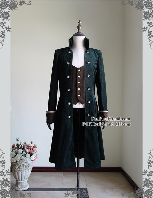 Front View (Dark Green + Deep Brown Ver.)