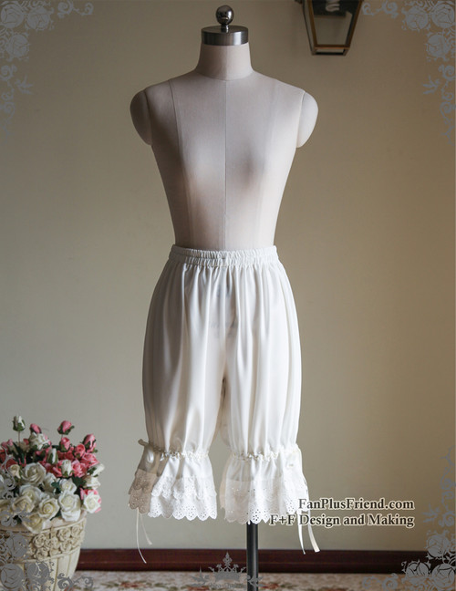 Gothic Lolita Basic Long Bloomers*2colors Instant Shipping