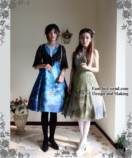 Model Show (Lace Jacket: CT00255, petticoat: UN00022, black leggings: P00182, white leggings: P00187)