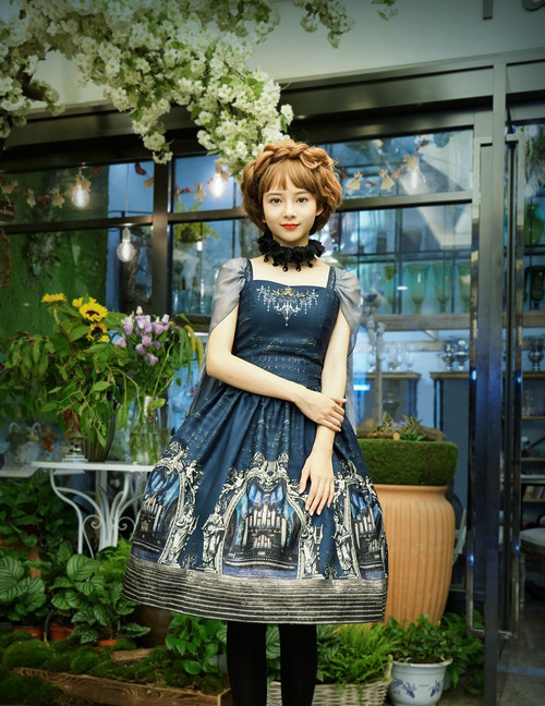 Model Show (Dark Blue Ver.) (birdcage petticoat: UN00019, leggings: P00182)
