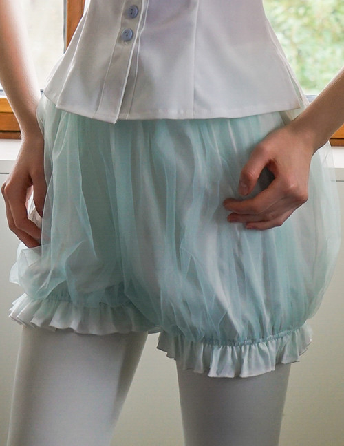 Strings Cantabile, Gothic Lolita Puffy Double-Layer Basic Short Bloomers*3colors Instant Shipping