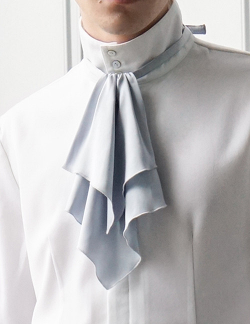 Steel Rose, Elegant Gothic Aristocrat Dandy Ouji Slim Jabot/Cravat*2colors Instant Shipping