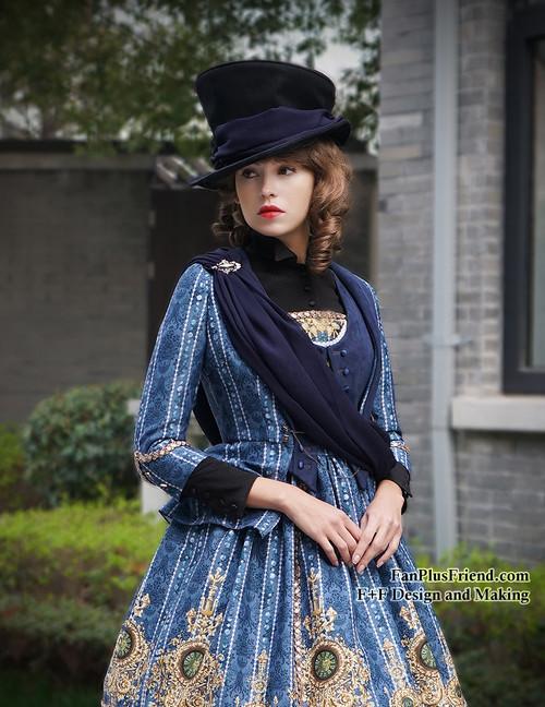 Elegant Gothic Rococo Bustle Back Jacket*4colors Instant Shipping