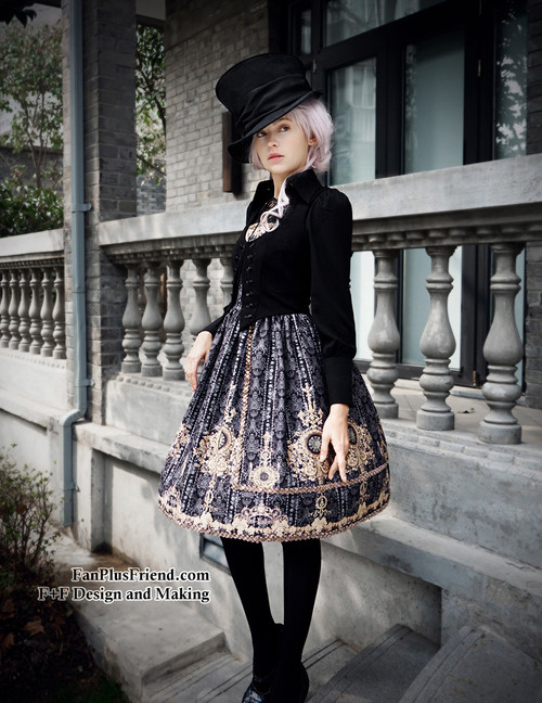 Model Show (Black + Grey Ver.) (hat: P00614, blouse: TP00125N, leggings: P00182)