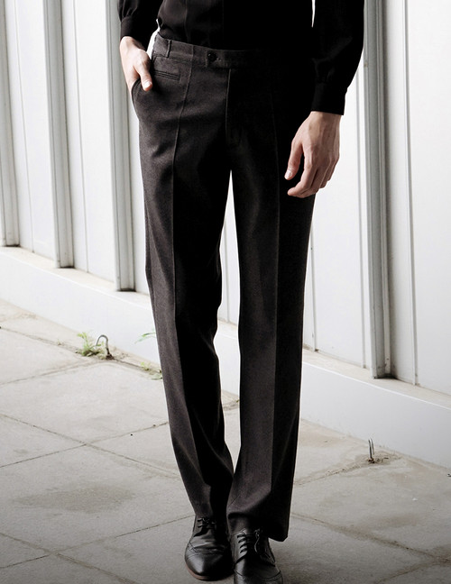 None in Circus, 50s' Britain Style Retro Fashion Worsted Wool Men's Formal Dress Pants*2colors Instant Shipping