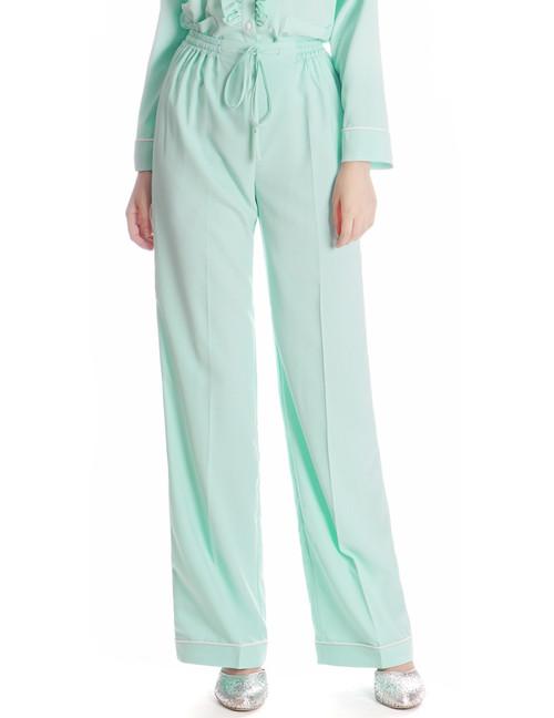 Vintage Silk Pajamas Pants Women Sleepwear Slack*White Grey