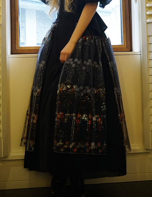 Model Show (Black + Grey Tulle Version) (petticoat: CT00040S)
