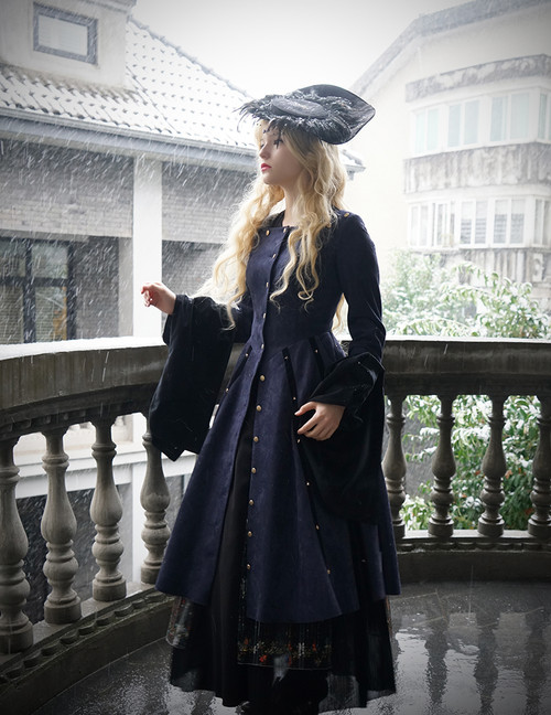 Model Show (Dark Blue Ver.) (hat: P00625, blouse: TP00157, skirt: SP00184, petticoat: CT00040S)