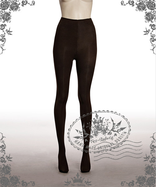 Basic Solid Color Leggings Tights*Brown