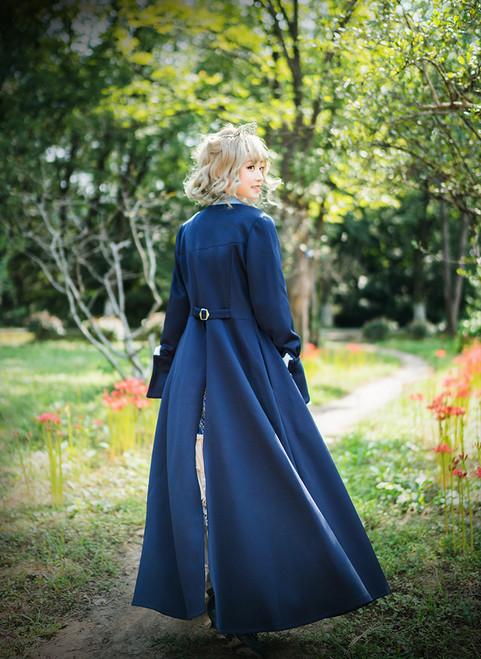 Gothic Retro Maxi Trench Coat Vintage Fashion Dandy Long Spring Jacket