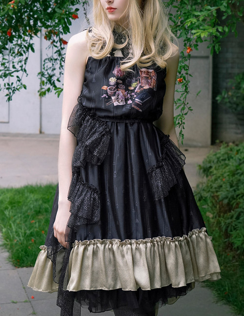 NEW RELEASED OFFER: Vintage Gothic Fashion Midi Dress Womens Ethereal Summer Dress