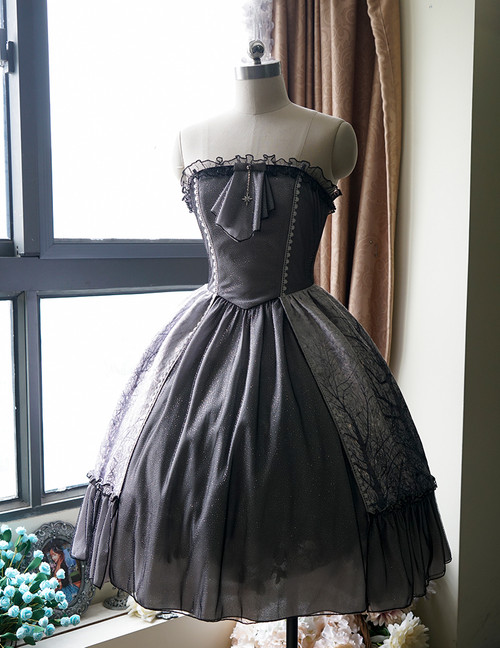 Front View under natural sunlight (petticoat: UN00026, birdcage petticoat: UN00019)