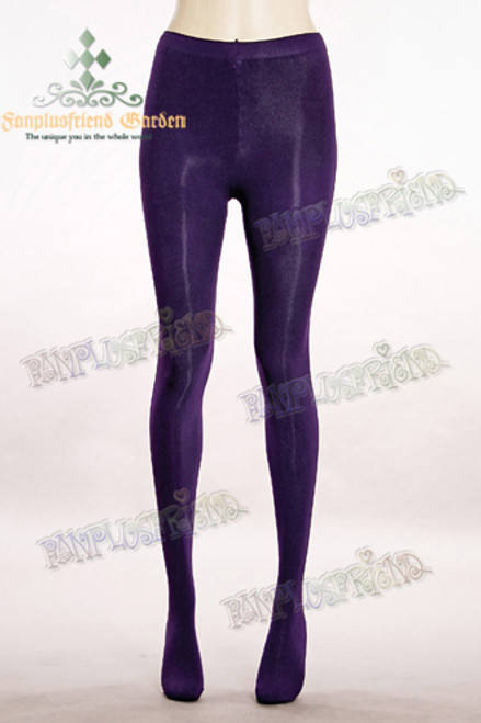 Basic Solid Color Leggings Tights*Dark Purple