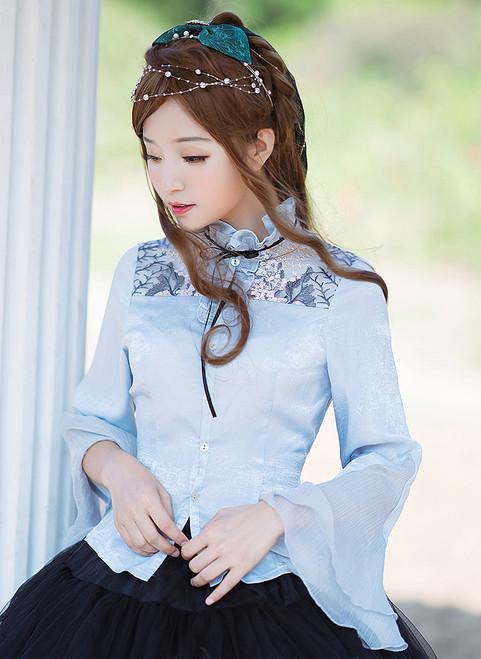 Model Show (Pale Blue Ver.) (bowknot headdress: P00638) *beads headdress NOT for sale