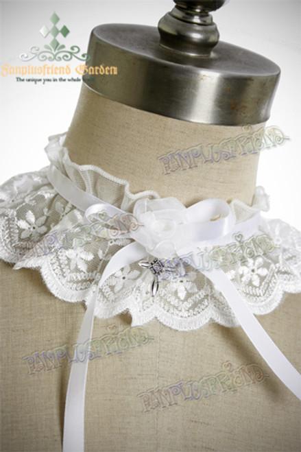 Elegant Gothic Lolita Choker*Flower&Cross*2colors
