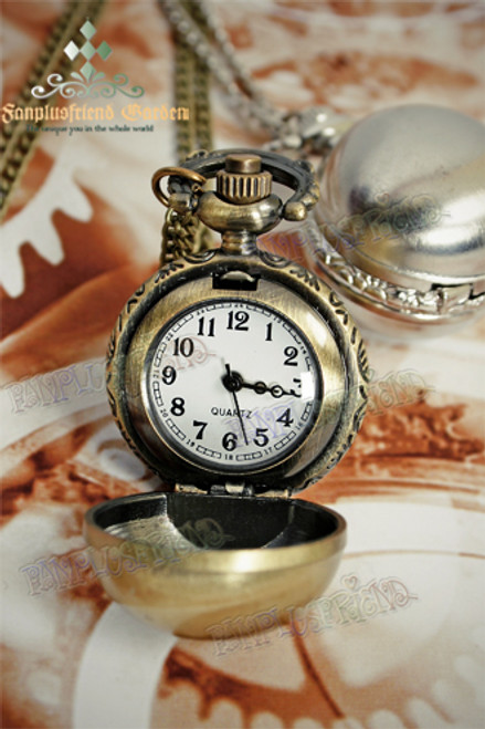 Gothic Spheroid Pocket Watch/Necklace for Man*silver