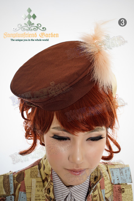 Last Chance: Avant-courier in Renaissance Dandy Lolita Beret Hat,Unisex*3color instant shipping