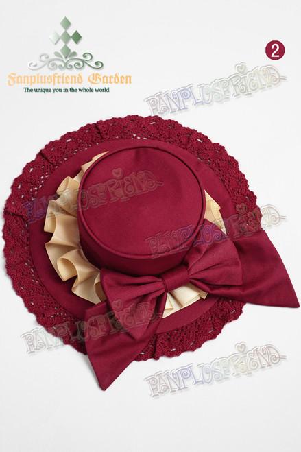 Last Chance: The Bridge of Bubbles Gothic Lolita Mini Hat/Hat dress*2colors Instant