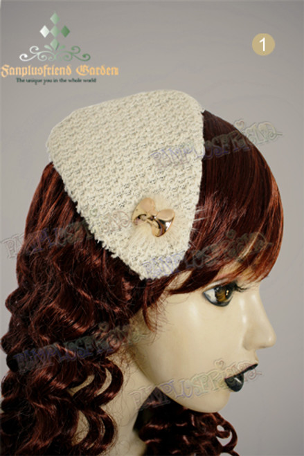 Elegant Classic Triangle Knitting Mini Beret Hair Pin*3colors