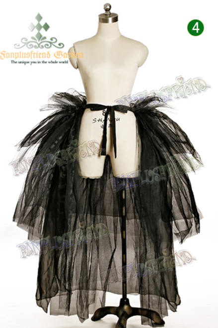 Visual Kei/Punk Lolita Puffy Gauze Bustle Pannier*Ankle Length
