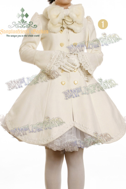 Front View (White Wool & Fur) (petticoat: UN00022, leggings: P00187, gloves not for sale)