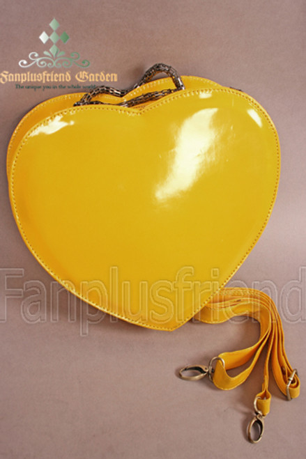 Cutie Lolita Heart Shape PVC Bag*2colors Instant Shipping