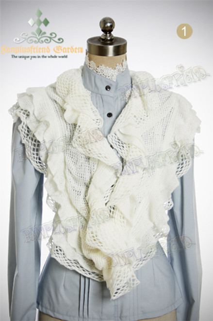 Elegant Knit Stretchy Frill Ruffle Shawl/Shrug*3colors