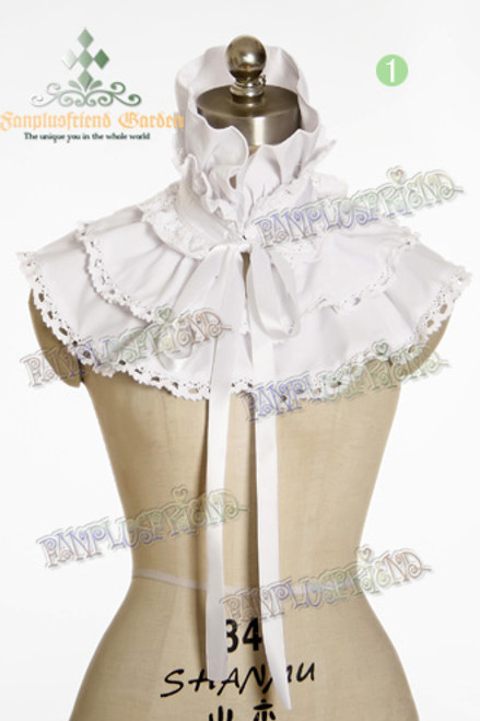 Last Chance: Elegant Gothic Stand Collar Choker Cape/Frilly Shrug*5colors Instant Shipping