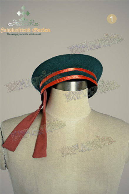 Last Chance: Military Lolita Small Sailor Beret*Deep Green Instant Shipping
