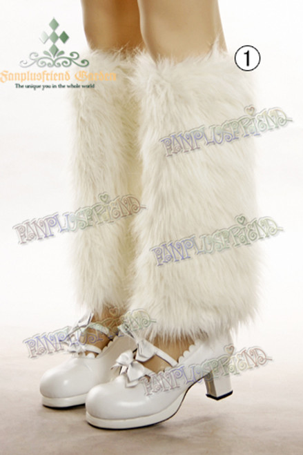 Winter Casual Lolita Fake Fur Long Spats*3colors Instant Shipping