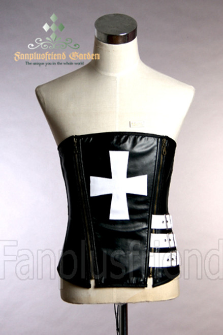 black & white fake leather