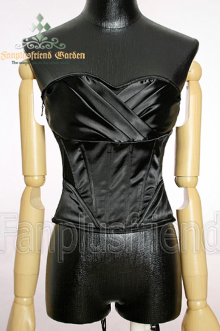 Elegant Gothic Over Bust Steel Boned Satin Corset
