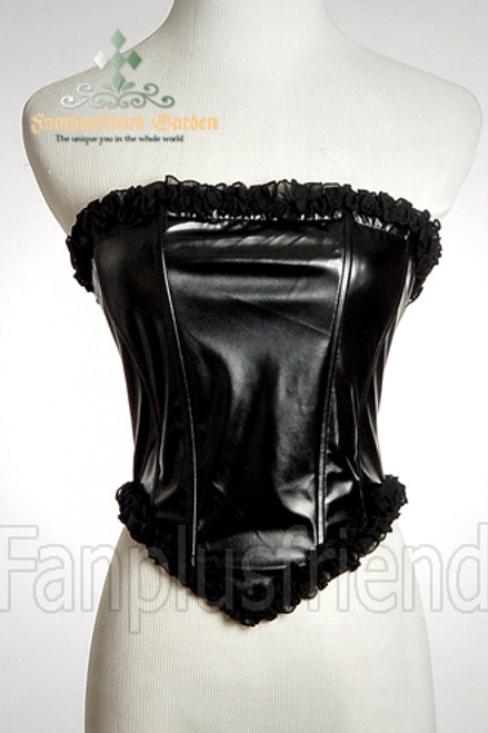 Elegant Gothic Aristocrat Over Bust Steel Boned Leather Corset