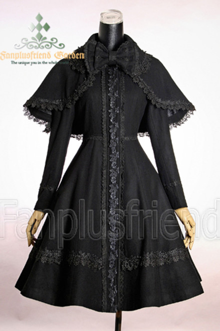 Front View (Black + Black Lace)