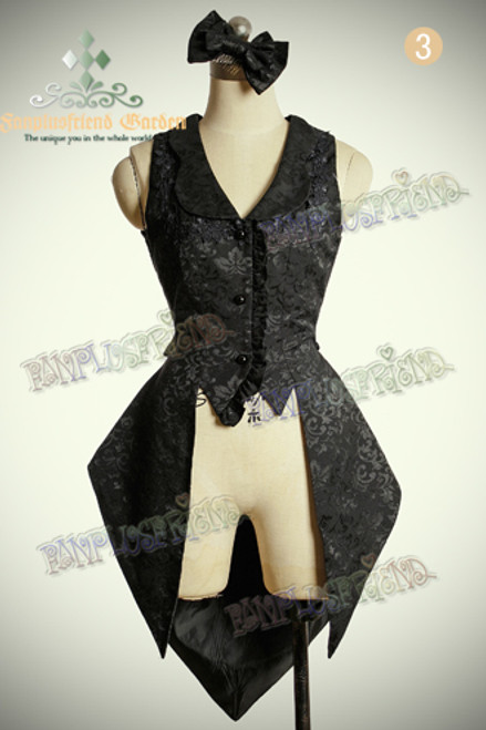 Front View (Black Jacquard Cotton Ver.)