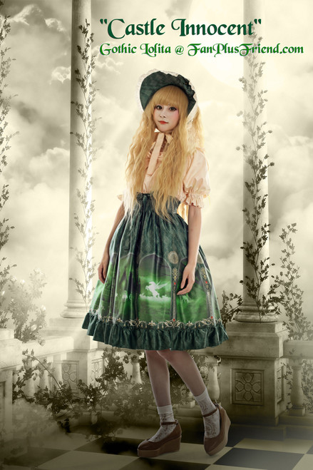 Last Chance: Castle Innocent Gothic Lolita False 2pcs Dress*2colors Instant Shipping