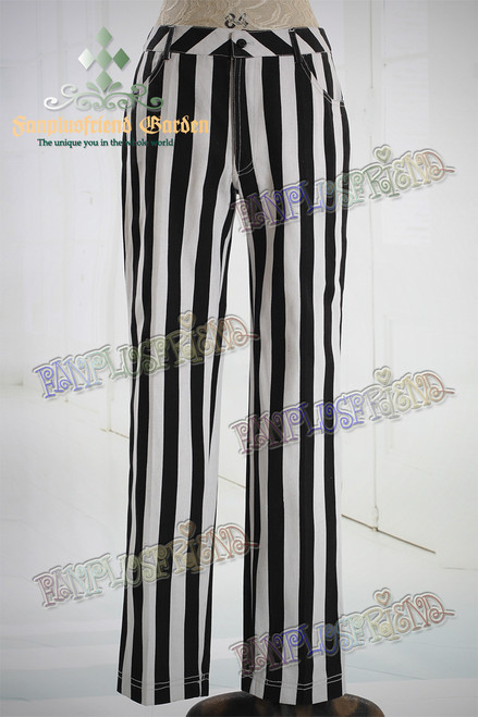 Cyber Punk Wide Stripe Cotton Pants