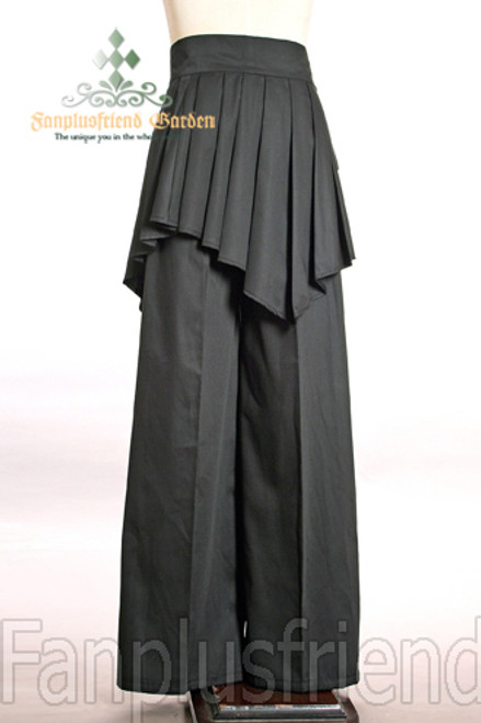 Last Chance: Elegant Gothic Dandy Pirate Long Pants&Pleated Wrap*Instant Shipping