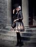 Model Show (Black + Grey Ver.) (hat & sash set: P00614, blouse: TP00125N, dress: DR00189, tote: P00583, leggings: P00182)