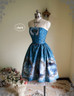 Front View w/o Blouse, and remove the steel hoop of the Petticoat (Misty Blue + Grey Tulle Ver.)