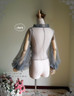 Blouse when tighten the cuff ribbons & remove the hood (Grey Tulle Ver.)