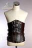Dark Brown & Black fake leather