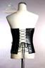 black & white fake leather