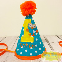 Hoot Inspired Hat (Orange Trim)