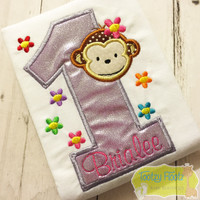 Monkey with flowers Inspired Birthday