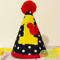 Mickey Mouse Inspired Birthday Party Hat