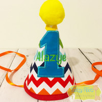 Rainbow Chevron Party Hat