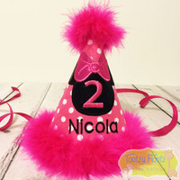 Minnie Mouse Inspired Birthday (Hot Pink) Party Hat