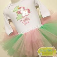 Unicorn Themed Birthday Set (Mint & Baby Pink)