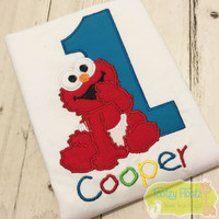 Baby Elmo Inspired Birthday <Font 2>